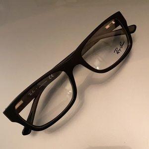 Ray Ban RB 5268 matte black eyeglass frames for Rx
